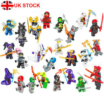 24Pcs/Set Ninjago Mini Figures Kai Jay Sensei Wu Master Lego Building Blocks Toy • 12.67£