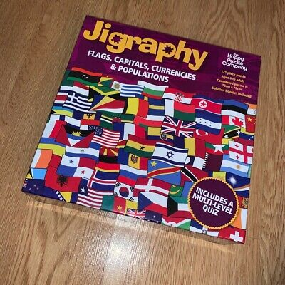 Jigraphy Flags, Capitals, Currencies And Populations 121 Piece Jigsaw Puzzle • 11.80£