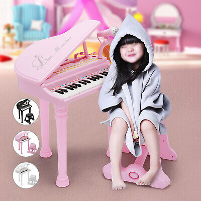 Educational Musical Electronic Children's 31 Key Kids Toy Grand Piano With Stool • 24.49£
