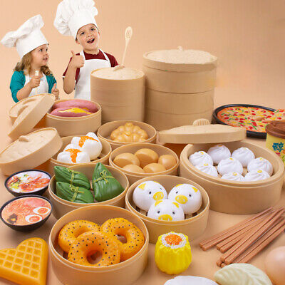 84Pcs Chinese Western Food Toy Kids Roleplay Pretend Kitchens Toy Set Xmas Gift • 24.59£