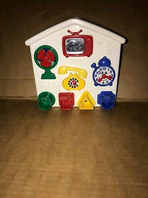 Vintage Tomy ActivityTtoy With Shapes Activity Play Baby Toddler Shape Toy • 14.99£