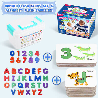 Childrens Flash Cards Kids Educational Pre School Alphabet Or Numbers Learning • 11.59£