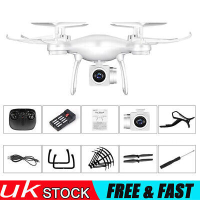 White Transmission Helicopter Drone GPS Wifi 4k HD Wide Angle Camera Quadcopter • 43.99£