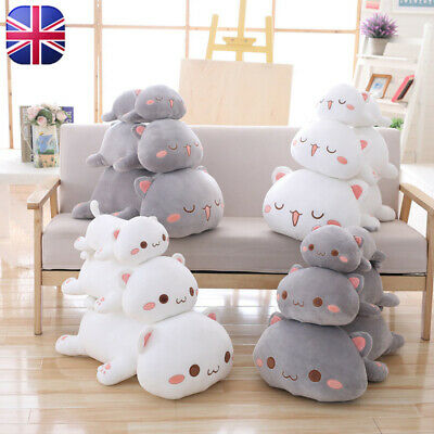 Kawaii Lying Cat Plush Toy Stuffed Cute Cat Doll Lovely Animal Kids Holiday Gift • 15.99£