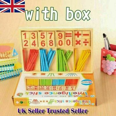 Kids Children Wooden Math Counting Game Sticks Numbers Learning Educational Toys • 4.95£
