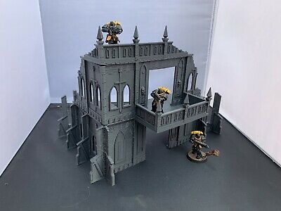 3D Printed Ruined Shrine/Cathedral Building Terrain For 28mm Warhammer 40k  • 16.99£