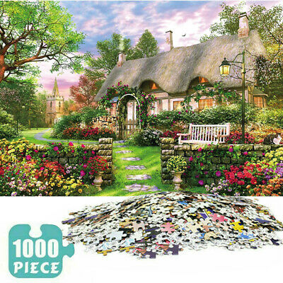 1000 Piece England Cottage Jigsaw Puzzle Puzzles Adults Learning Education UK • 7.99£