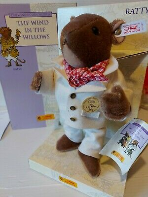 Rare GENUINE STEIFF WIND IN THE WILLOWS RATTY Teddy Bear Boxed Limited Edition  • 26£