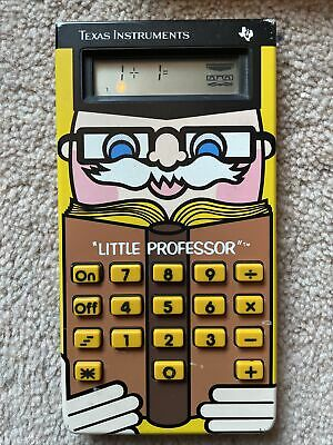 Little Professor Texas Instrument Vintage Calculator With Case And Play Cards • 10.02£