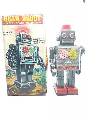 Vintage JAPAN HORIKAWA GEAR ROBOT WITH RARE ORIGINAL BOX - Working Excellent • 465£