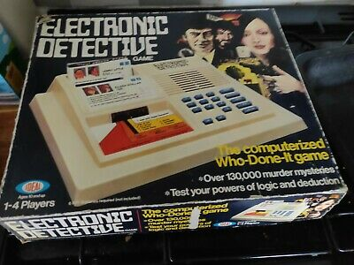 Electronic Detective Ideal Games Complete, Used, See Description • 5£