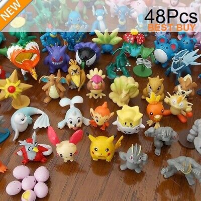 New 24pc/48pc Pokemon Action Figures Kids Pockit Monsters Toys Gifts Presents UK • 13.96£