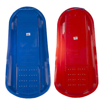 Winter Snow Outdoor Swordfish Sledge/ Toboggan Available In Red & Blue • 6.99£
