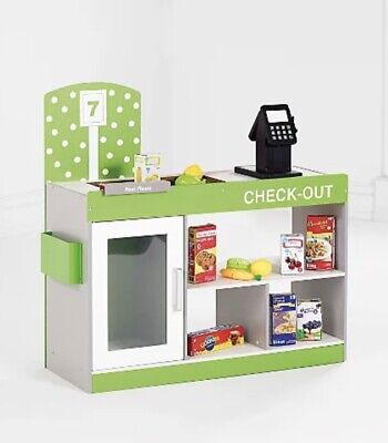 Childrens Wooden Play Checkout Shop Counter Brand New Boxed • 55£
