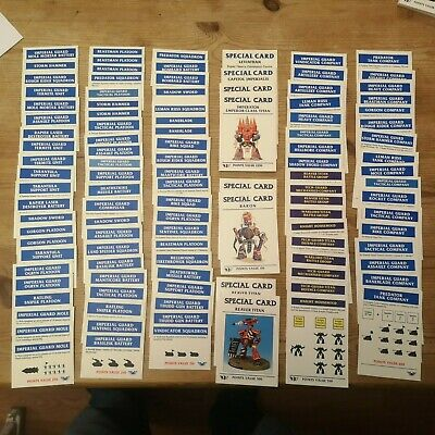 Wahammer Epic 40K Imperial Guard Cards • 5£