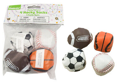 4 Hacky Sack Ball Skill Ball Sports Stress Relief Ball Sports Party Favor Juggle • 4£