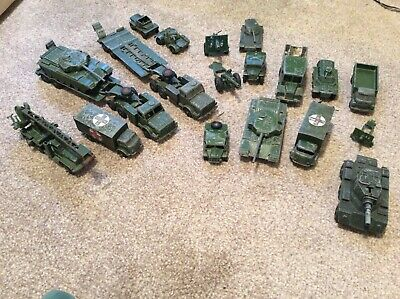19 Military Vehicles, Predominantly Dinky Toys, Used. • 15£