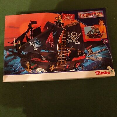 Pretend Play Pirate Ship Play Cannon Treaure Pirate Figures Toy With Figures • 9£