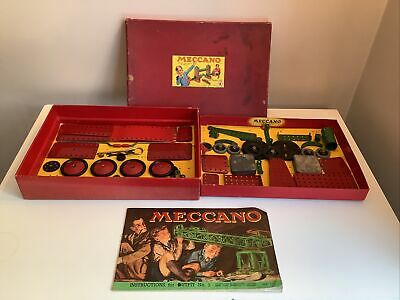 Vintage Pre War Original Boxed Meccano Outfit No. 6 With Pieces + Instructions • 49.99£