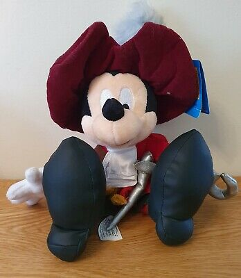 Rare Collectable Disneyland Paris Capitaine Crochet Mickey Mouse Soft Toy • 5£
