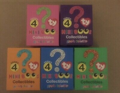 Ty 5 Mini Boos Series 4 BRAND NEW BOXED BARGAIN • 17£
