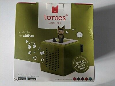 Tonies Toniebox Starter Set Incl 1 Creative Character - Green- New • 42£