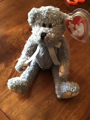 Ty Beanies - Attic Treasures Bluebeary Bear With Tag 1993 • 4£