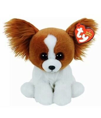 Ty Beanie Babies 41206 Barks The Dog 15cm -  New With Tags • 6.99£