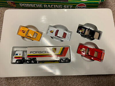 Matchbox Convoy Box Truck Lorry Porsche Racing Car Set 911 • 42£