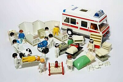 Playmobil Vintage Hospital & Ambulance (3456) Bundle Accessories Figures • 29.99£