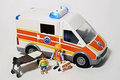 Playmobil Ambulance (5541) For Hospital Rescue Vehicle Paramedic Figure Light Up • 13.99£