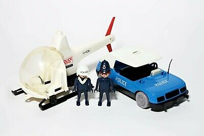 Playmobil Vintage Police Car & Helicopter Bundle Officer Figures Vehicles  • 9.99£