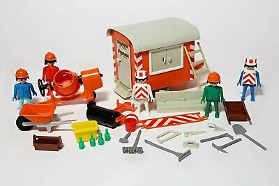 Playmobil Vintage Construction Bundle System Set Work Men Builder Figures • 14.99£