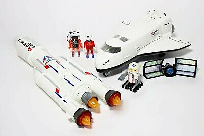 Playmobil Space Bundle With Rocket (6195) & Shuttle (6196) Astronaut Figure • 34.99£