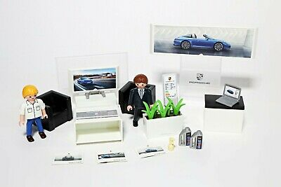 Playmobil Porsche 911 Targa 4S Dealer Ship (5991) Shop Accessories Bundle • 9.99£