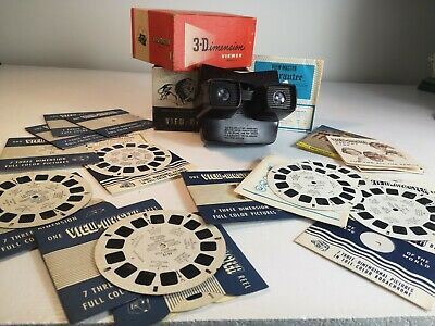Viewmaster Model E 1950s Bakelite In Box With Guarantee & 11 Reels Of Countries  • 22£
