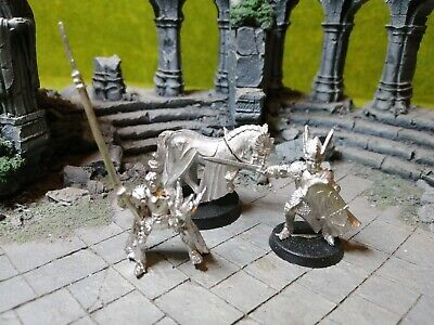LOTR Hobbit Warhammer Captain Of Dol Amroth Foot & Mounted OOP Metal Rare • 46.49£