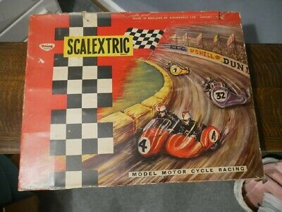 1963 Scalextric MC31 Model Motorcycle And Sidecar Racing Set • 450£