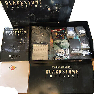 Blackstone Fortress Boxed Game - No Miniatures -New Sealed Rules Cards Board Etc • 0.99£