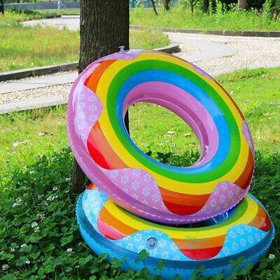 90cm Novelty Swim Ring Donut Watermelon Inflatable Rubber Holiday Pool Kids Ring • 4.99£