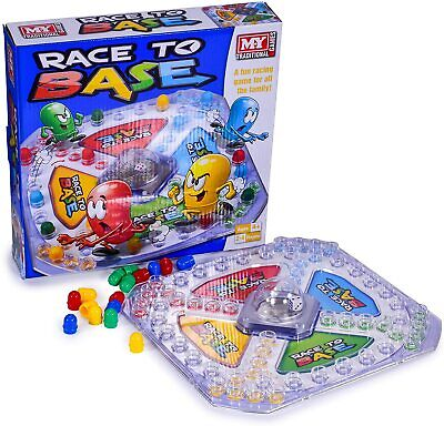Kids Children Race To Base Pop Dice Frustration Board Game Family Friends Party • 7.75£