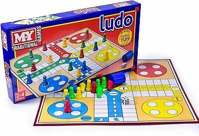 Traditional Ludo Board Game Kids Family Fun Adult Toy Playing Full Size Gift • 6.09£