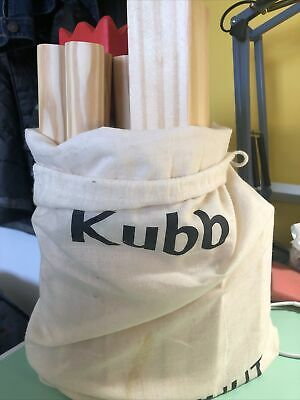 Toyfel Kubb Outdoor Game Knuut With Carry Bag -  Lawn Garden Game • 19£