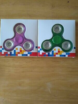 Fidget, ::Hand/Finger Spinner. ADHD,EDC. Hand Focus Toys1Purple &1 Green • 6.95£