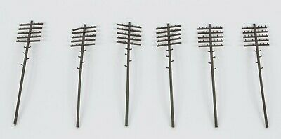 6x TRIANG MINIC MOTORWAY TELEGRAPH POLES REALLY EXCELLENT • 5£