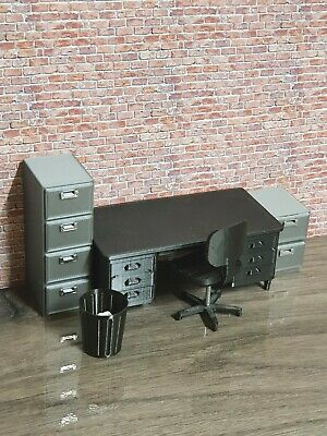 1:18 Scale 3d Printed Office Furniture Set For Garage Diorama  • 27.99£