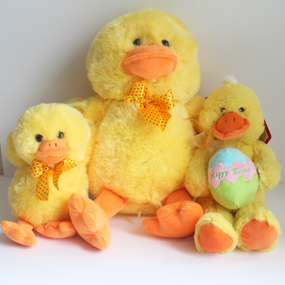 YELLOW Sitting Soft Toy Easter Duck Easter Soft Toy Plush Soft Toy Gift Adult • 7.99£