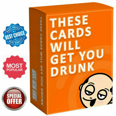 These Cards Will Get You Drunk - Fun Adult Drinking Game For Parties • 7.25£