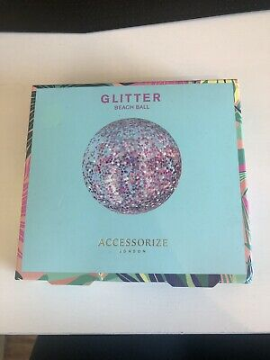 BRAND NEW & UNOPENED Accessorize Glitter Beach Ball • 1.20£