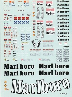 Carpena Decals For Cars 1/18 - Marlboro  (Ref 1.18.A) • 6£